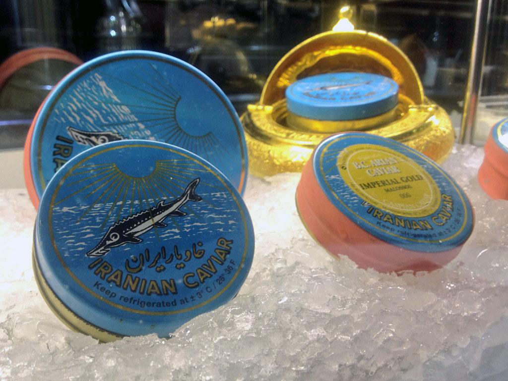 caviar en La Taverna del Clínic