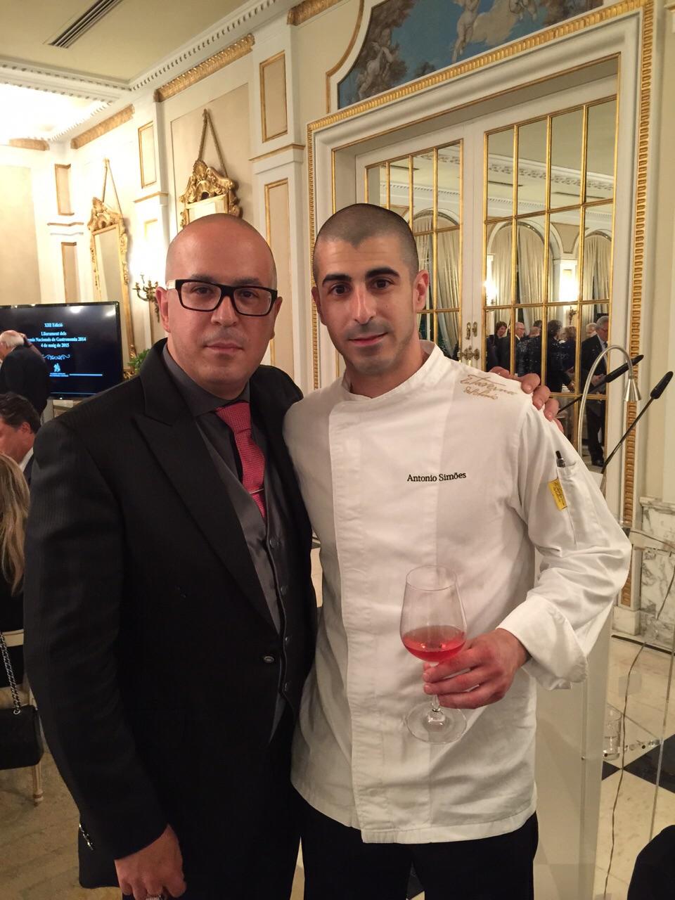 Manuel y Antonio Simôes en la Gala #MejorCocineroJoven2014
